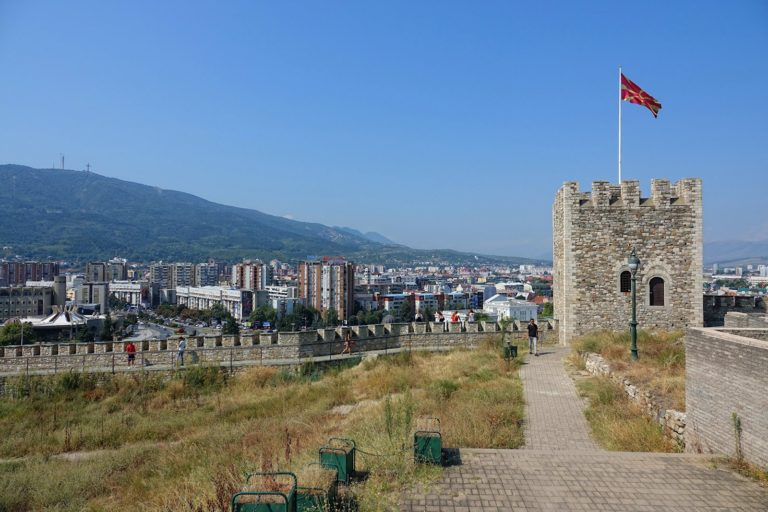 The old Kale fortress in Skopje, Macedonia.