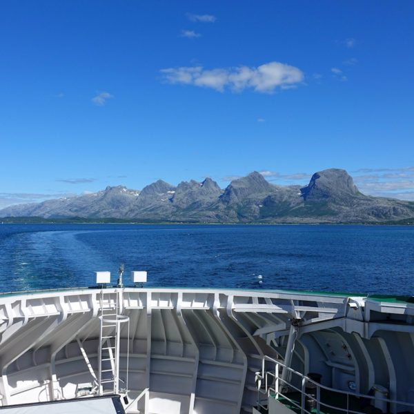 The Seven Sisters, seen from the ferry to Herøy.