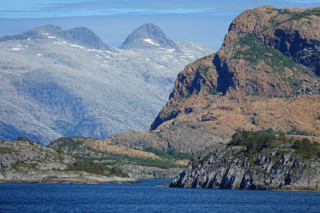 This part of Norway popped out of the last ice age fairly recently, so a lot of it is still just rock not covered by much.