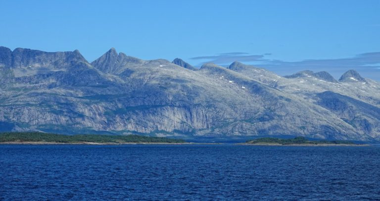 The Helgeland coastline is pretty much just a wall of granite.