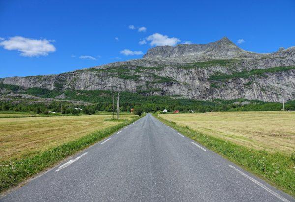 Driving through Alstahaug municipality.