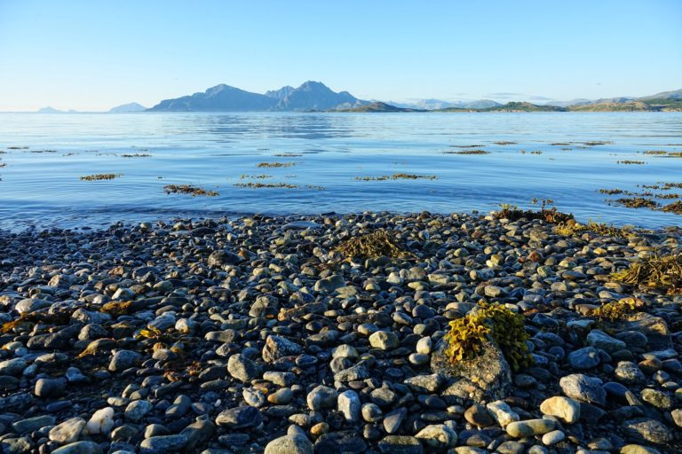 I find few things more soothing than sitting on a stony beach and listening to gentle waves flow through the thousand trails between the rocks.