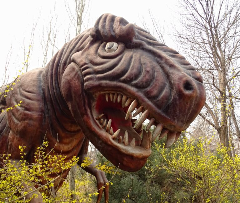 Derpy dinosaur at Beijing Shijingshan Amusement Park