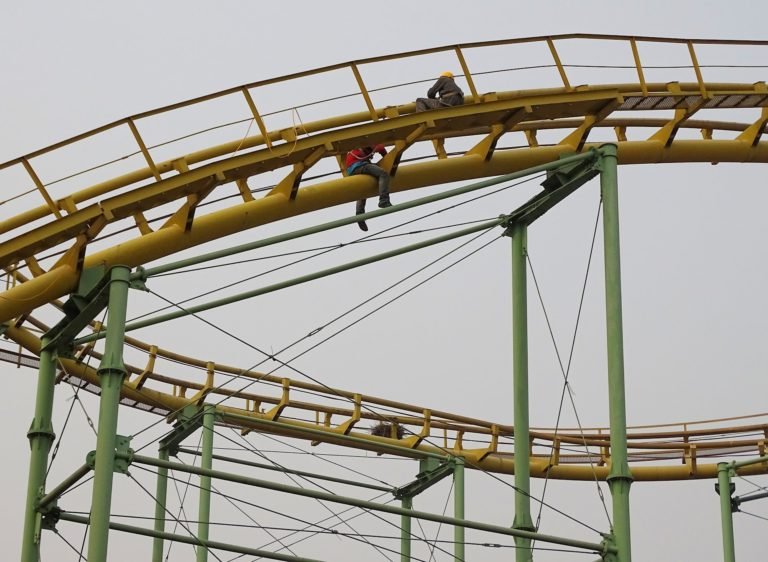 Slow maintenance at Beijing Shijingshan Amusement Park