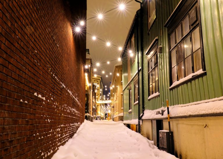 Danielsbakerveita alley in Trondheim, Norway