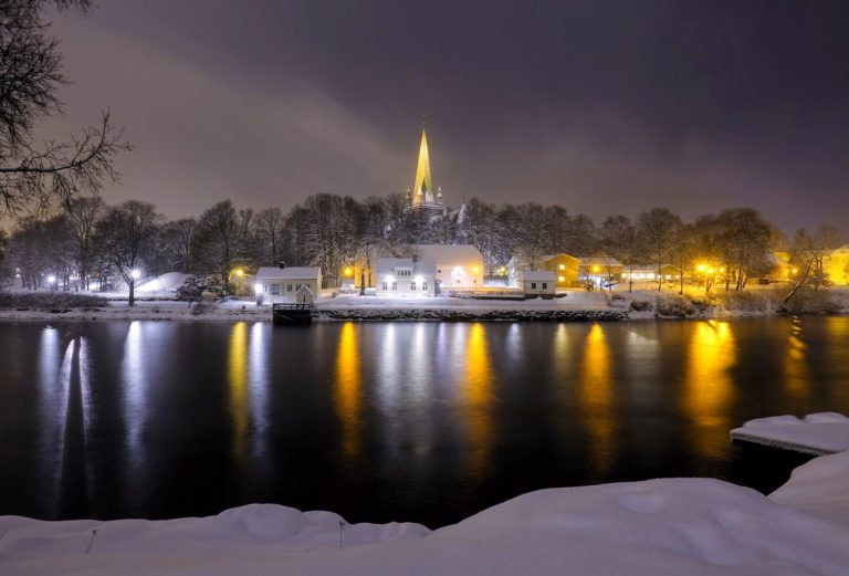 Serenity at Nidelven in Trondheim, Norway.
