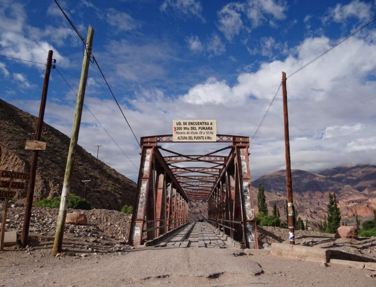 Old bridge in Tilcara, Jujuy, Argentina.
