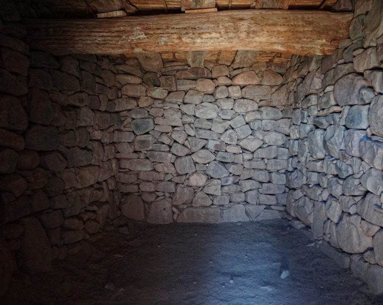 Inside one of the restored Inca buildings in Pukara, Tilcara, Jujuy, Argentina.