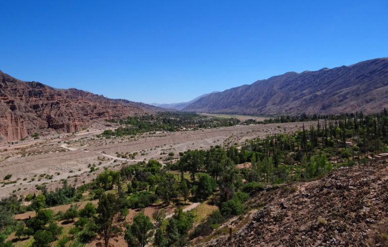 The view of the valley northwards from the Inca fortress, Pucará de Tilcara.
