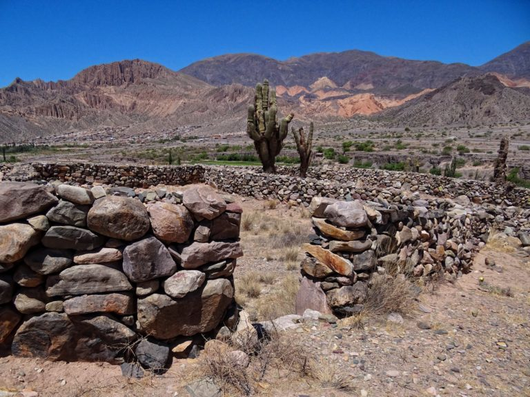 Inca quality stone fences at the Pucará de Tilcara in Argentina.