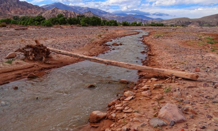 Basic bridge across the Rio Grande during a time of the year when it's not that grande.