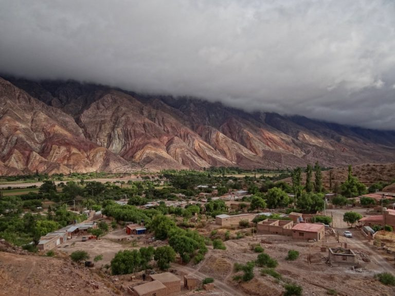 Psychedelic mountains in Quebrada Humahuaca.