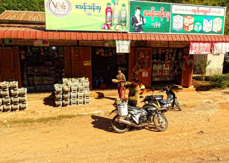 It seems that most shops in Myanmar are located right next to a main road.