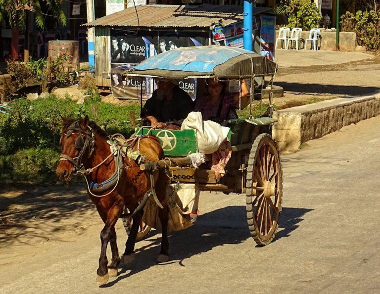 Slow commute in Myanmar