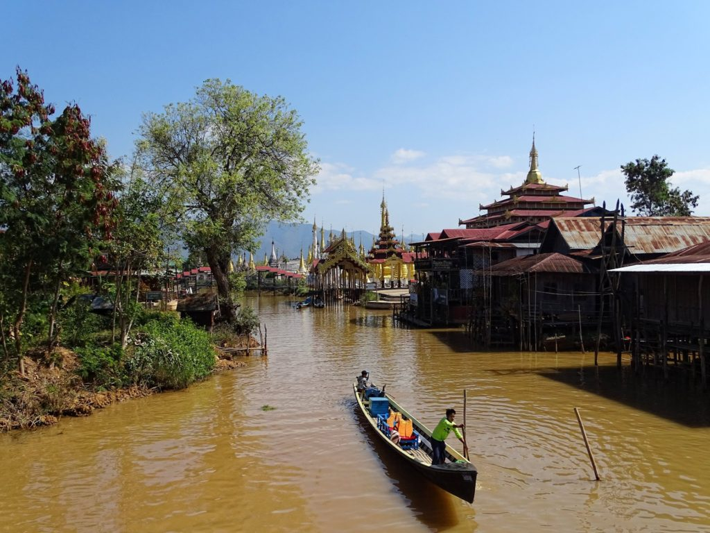 Slightly like Venice, the streets of villages of Inle Lake can look pretty amazing.