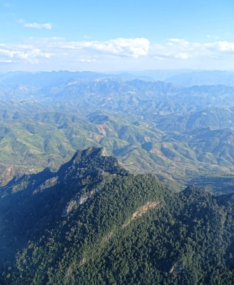 Photo of mountainous part of Laos, from flight between Bangkok and Luang Prabang.