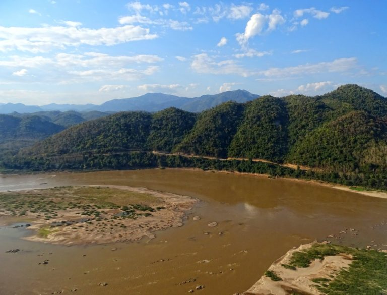 Mekong has created an open plain in Laos.