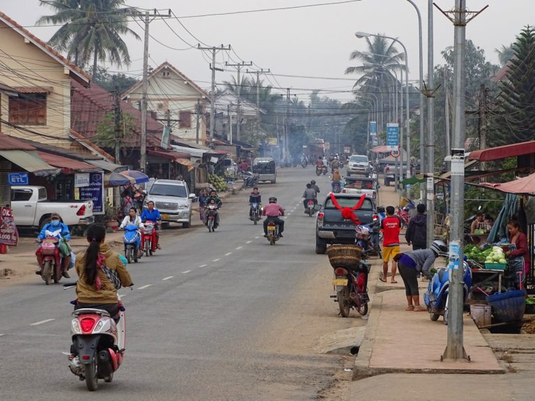 Phetsarat Road, a main street through Luang Prabang