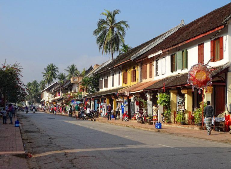 Sakkaline Road in Luang Prabang, Laos