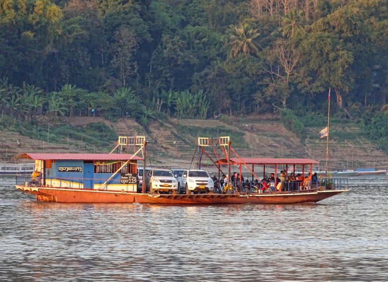 Ferry across the Mekong river, in Luang Prabang