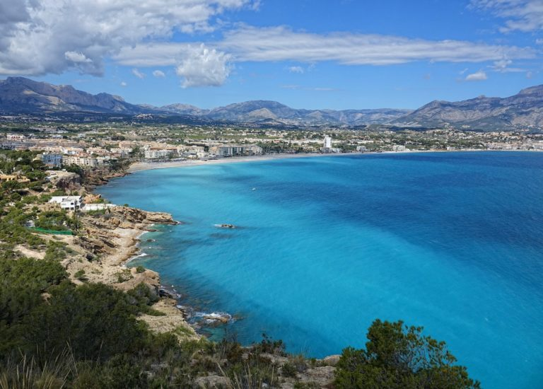 The bay in Albir, Spain.