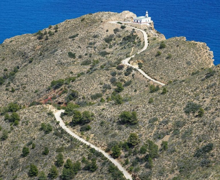 Trail to the Albir Faro in southern Spain.