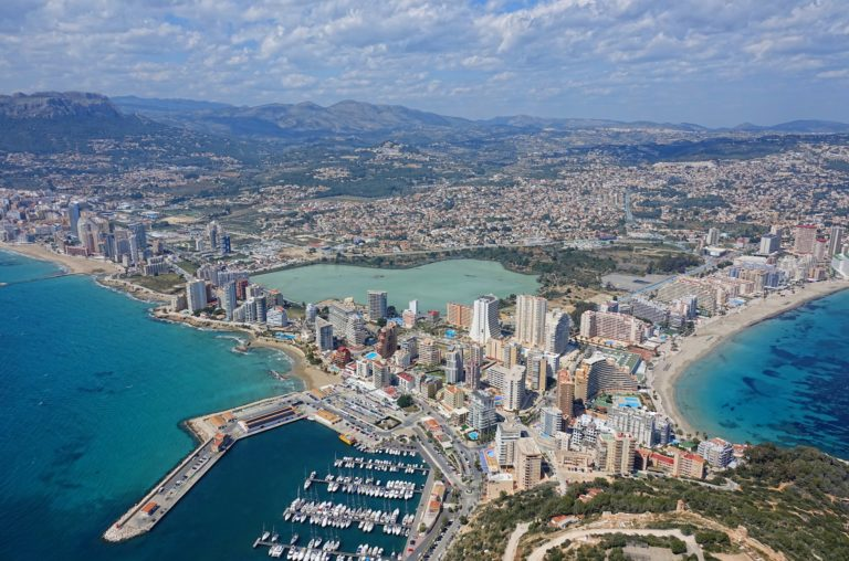 Calpe skyline from above.