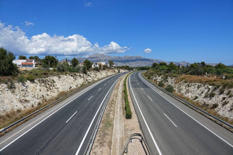 Plenty of space on the toll roads in Spain.