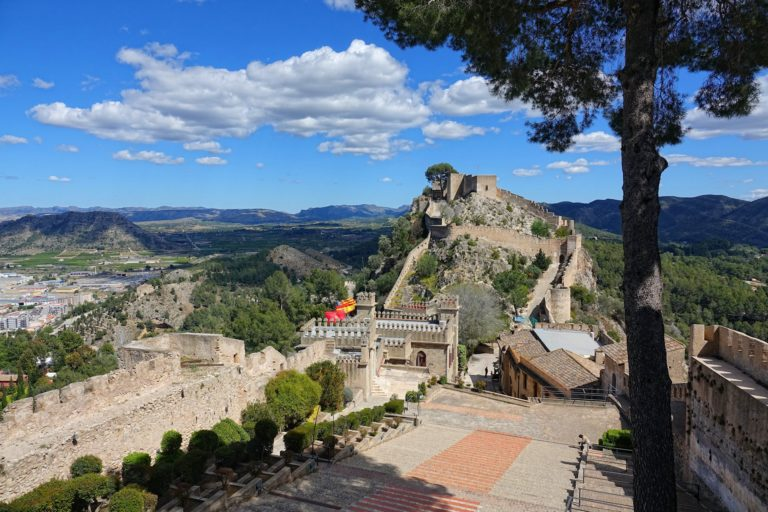 The old fortress above Xativa, Spain.