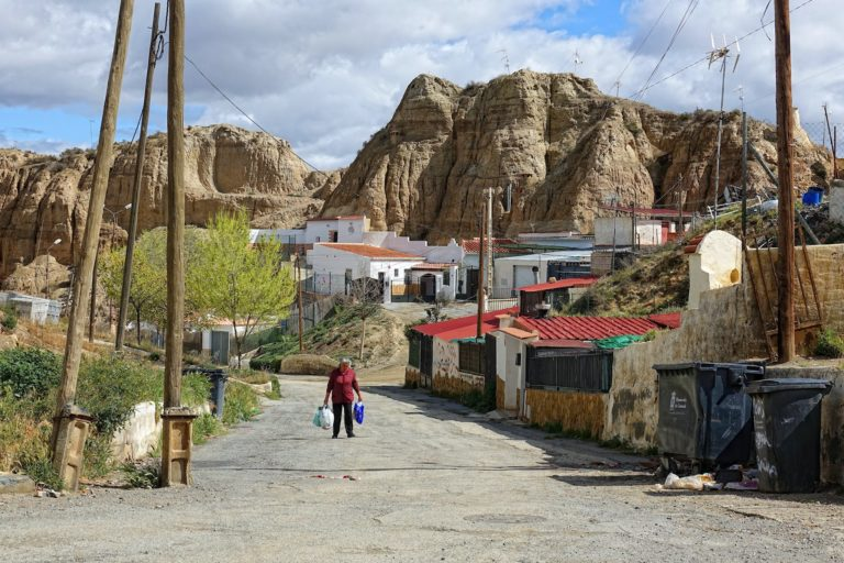Everyday life in Guadix, Spain.
