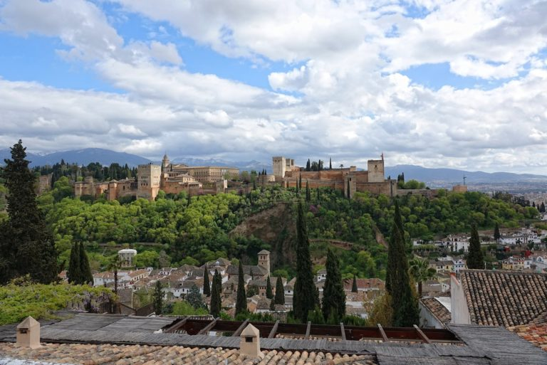 Alhambra seen from the northern side.