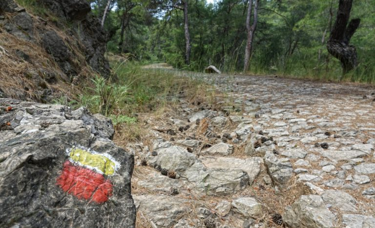 Trail markings on the Lycian Way.