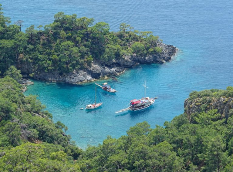 Day trips by boat from Fethiye, Turkey.