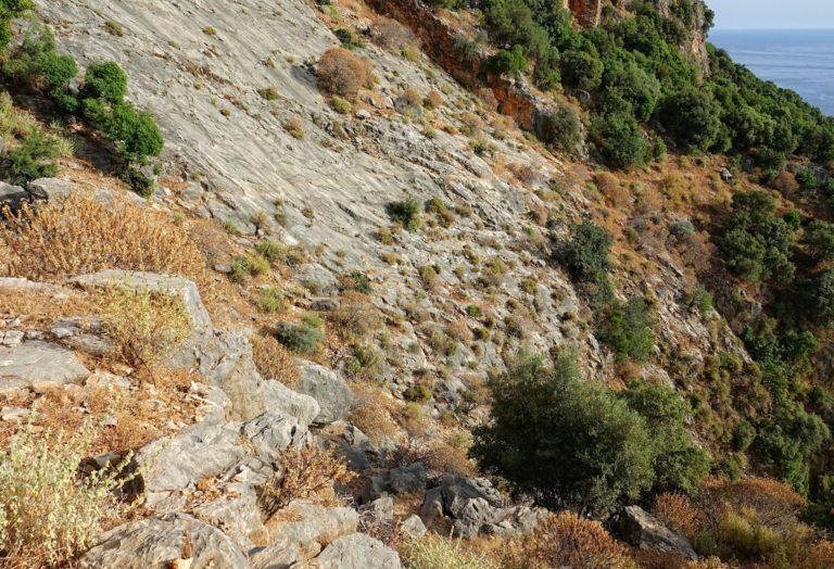 Bad trail on the Lycian Way, Turkey.