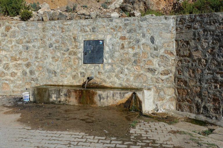 Water source on the Lycian Way, Turkey.