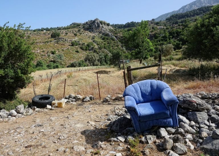 Photo of a comfortable chair on the Lycian Way, Turkey.