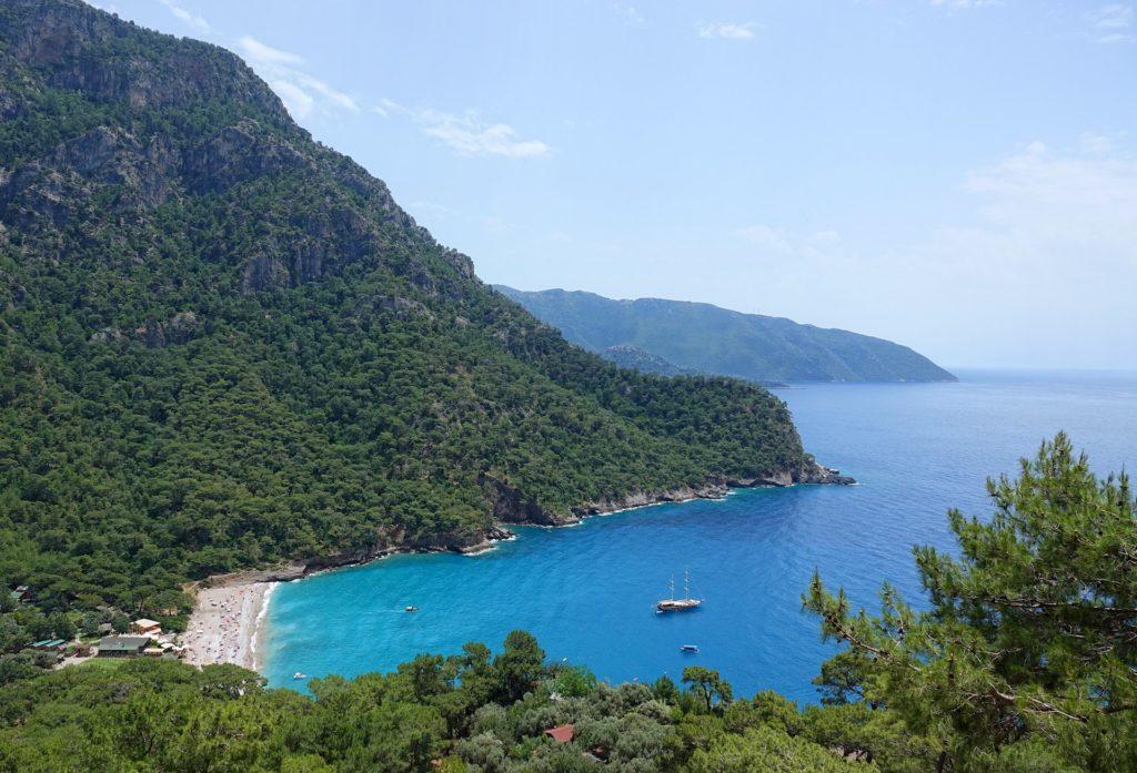 Photo of Kabak Beach on the Lycian Way, Turkey.
