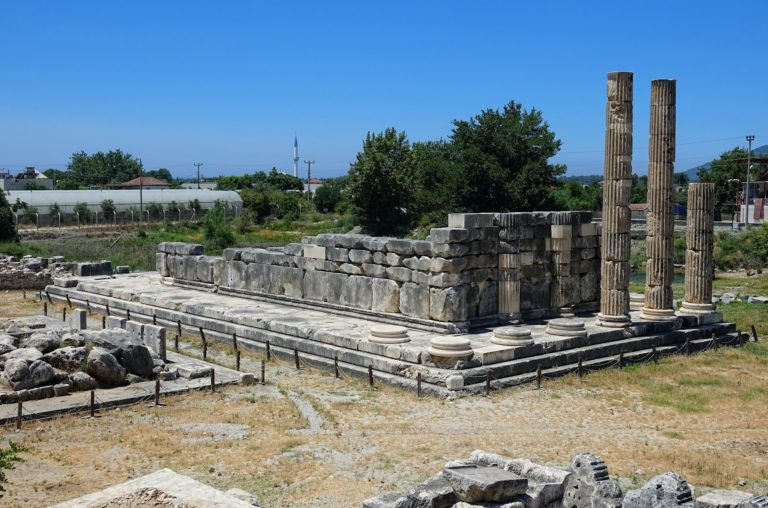 Photo of Lycian ruins at Letoon, Turkey.