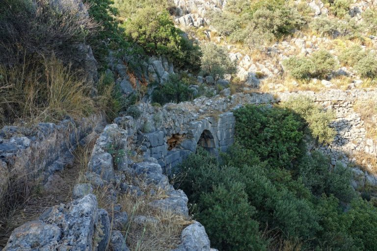 Photo of ancient aquaduct on the Lycian Way, Turkey.