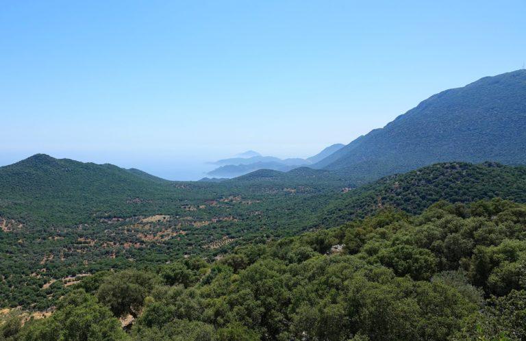 Photo of landscape on the Lycian Way, Turkey.
