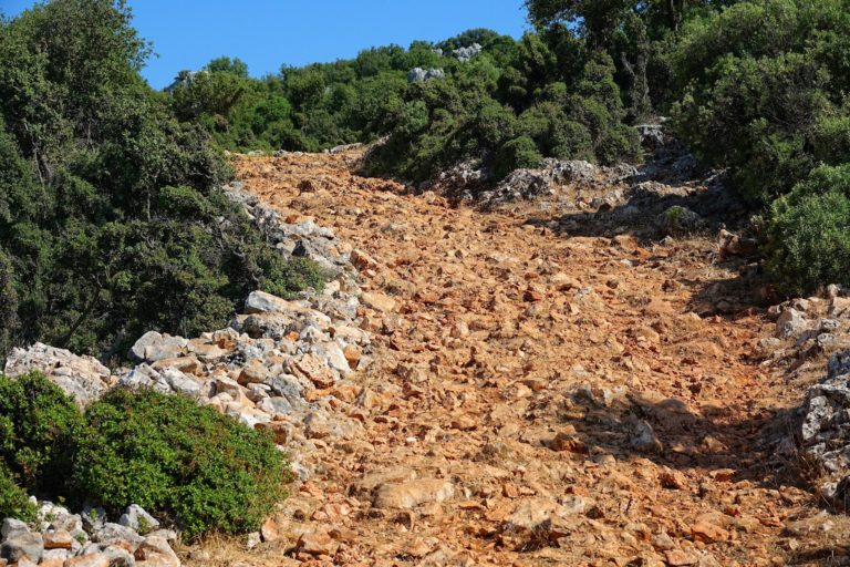 Photo of hostile trail on the Lycian Way, Turkey.