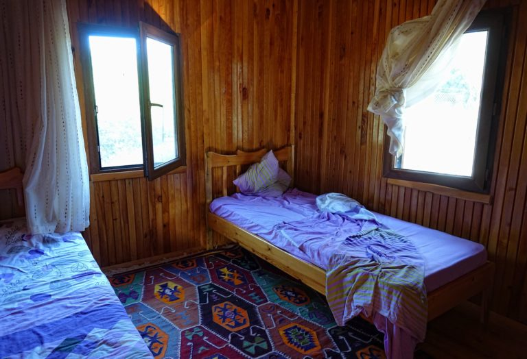 Photo of room for rent at the Boat House in Aperlai, Turkey.