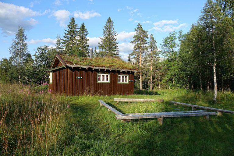 Strompdalshytta, open to hikers in Lomsdal-Visten national park.