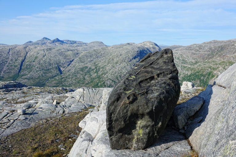 Alien rock in Lomsdal-Visten National Park.
