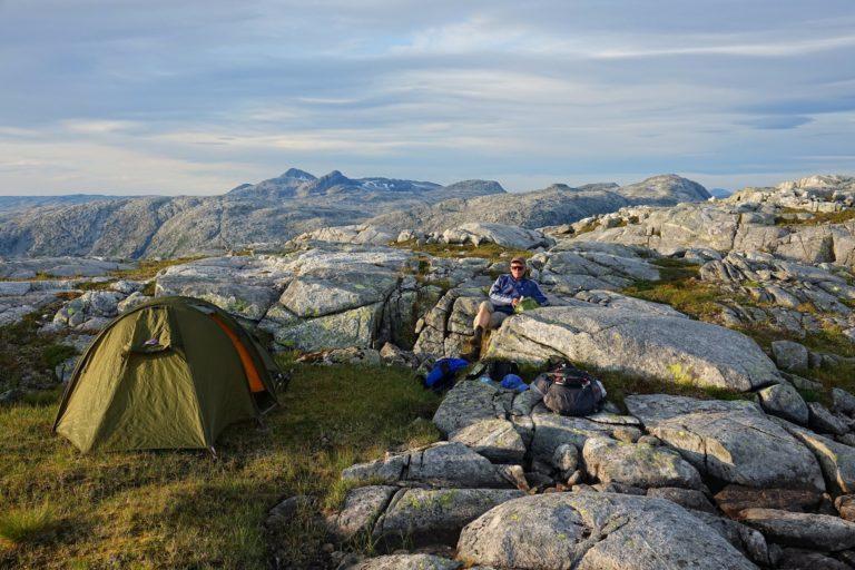 Camp site on Middagsfjellet, Lomsdal-Visten National Park.