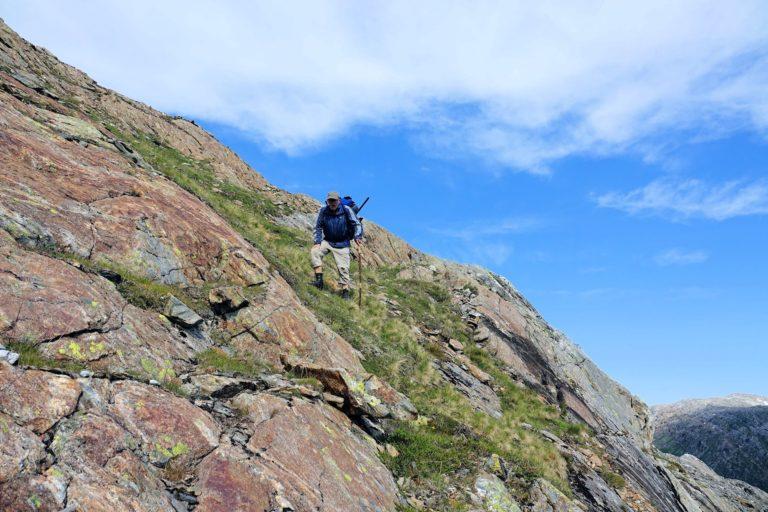Steep descent in Lomsdal-Visten National Park.