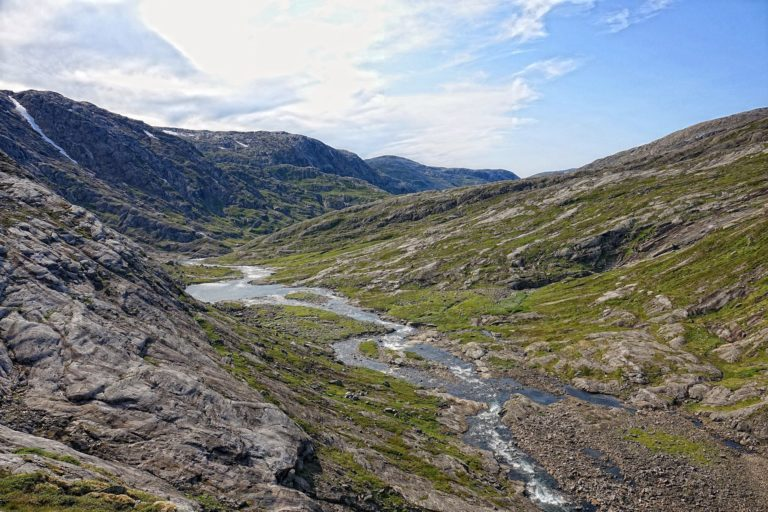 Upper Grunnvassdalen in Lomsdal-Visten National Park.