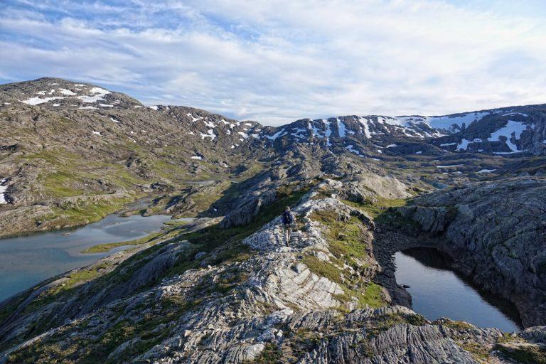 Hiking in Lomsdal-Visten National Park.