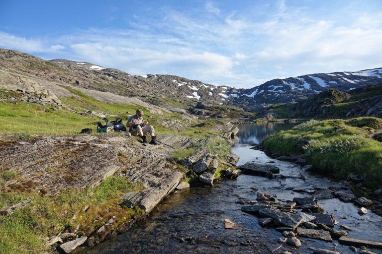 Foot care in Lomsdal-Visten National Park, Norway.