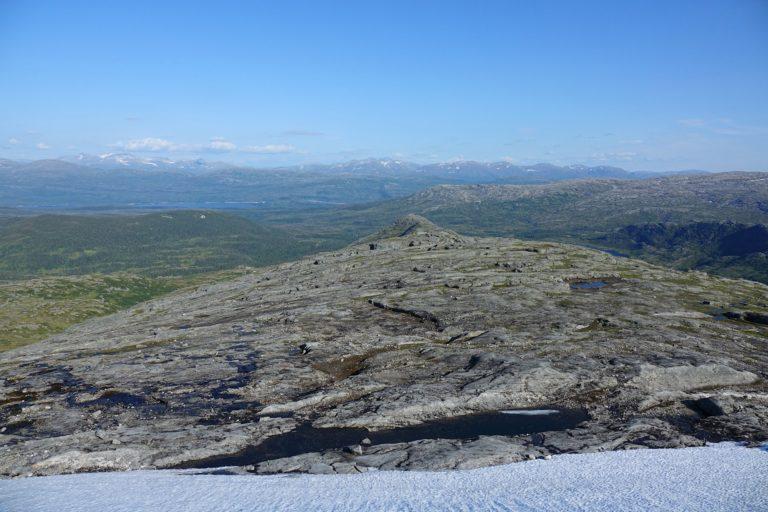 View from Lomsdal-Visten National Park towards Børgefjell National Park.